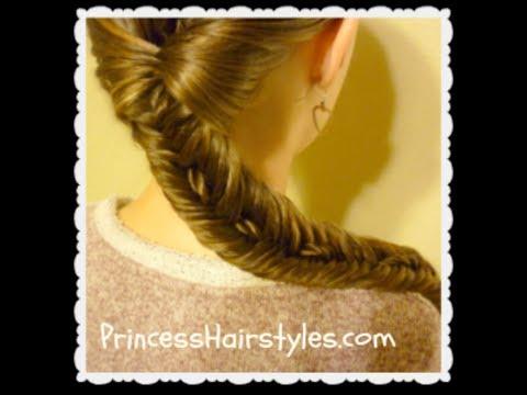 Rope Stitched Fishtail Braid, Side Braid Hairstyle, Hair4myprincess