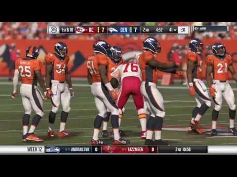 Madden 17 franchise NFLcz week 12 Broncos @ Chiefs