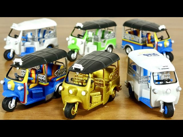 輝くゴールドがたまらないです!トゥクトゥクのガチャガチャが登場!全6種 運転席や後部座席・柵なども細かく作り込みされていいて見応え十分!可愛いしカッコいいし是非コレクションに!