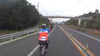 瀬戸内しまなみ海道国際サイクリング大会2014.10.26 メットに装着したSO...