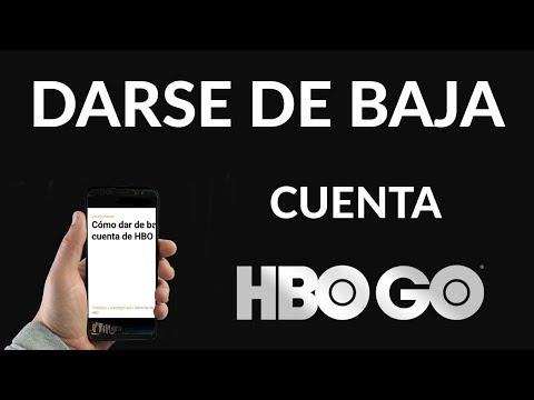 Cómo dar de baja una Cuenta de HBO
