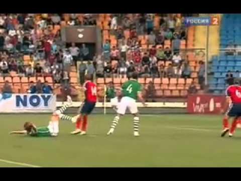 Отборочный матч Чемпионата Европы 2012  Группа B  Армения   Ирландия  Россия 2 1 тайм