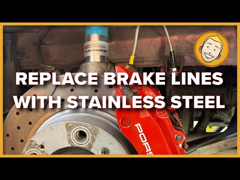 How to REPLACE BRAKE LINES with STAINLESS STEEL on a Porsche Boxster (Project 54)