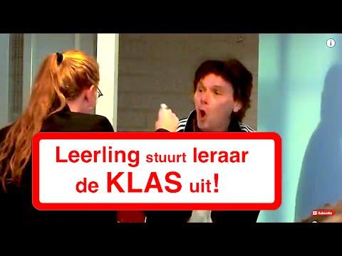 LEERLING STUURT LERAAR DE KLAS UIT!
