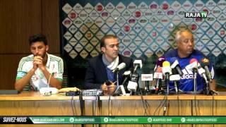 confrence de presse rca 0 0 wac biam 27 11 2016 derby الندوة الصحفية