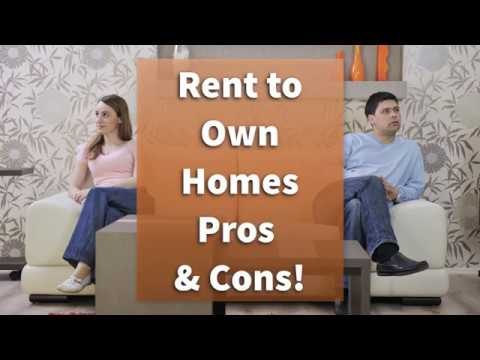Rent to Own Homes - Pros and Cons