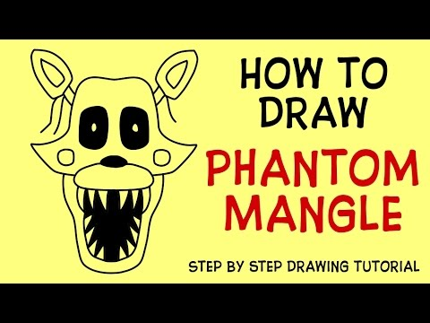 how to draw phantom mangle five nights at freddy s 3 characters fnaf