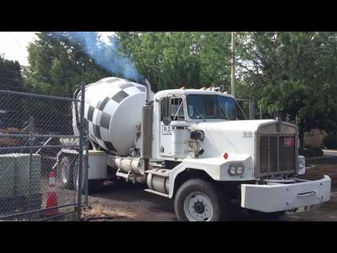 Cement truck exhaust
