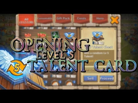 Castle Clash: Opening Level 5 Talent Card