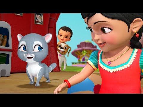 அழகுப்  பூனை குட்டி | Tamil Rhymes for Children | Infobells
