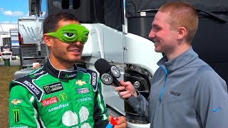 Kyle Larson plays the Blindfold Challenge