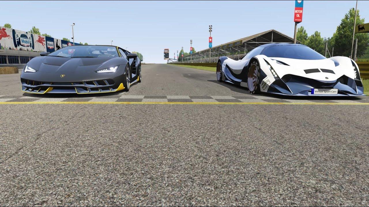 Acura Precision Concept vs Lamborghini Estoque vs Alfa Romeo Stelvio Q4 at Old Spa