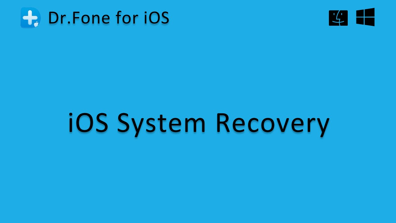 dr fone system recovery not working