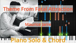 🎹Theme From Fatal Attraction, Solo & Chord, Maurice Jarre, Synthesia Piano