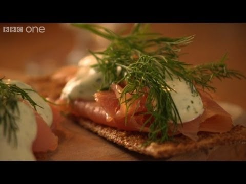 Smoked salmon & roasted garlic cream - Nigel Slater's 12 Tastes of Christmas - Episode 1 - BBC One