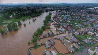 Смотреть Тулун Иркутская область  после затопления 10.07.2019г. онлайн