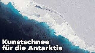 Der Meersspiegel steigt schon bald um  drei Meter! Kann Kunstschnee in der Antarktis noch helfen?