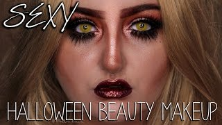 SEXY Exaggerated Makeup | Halloween Costume Beauty Tips & Tricks | RawBeautyKristi