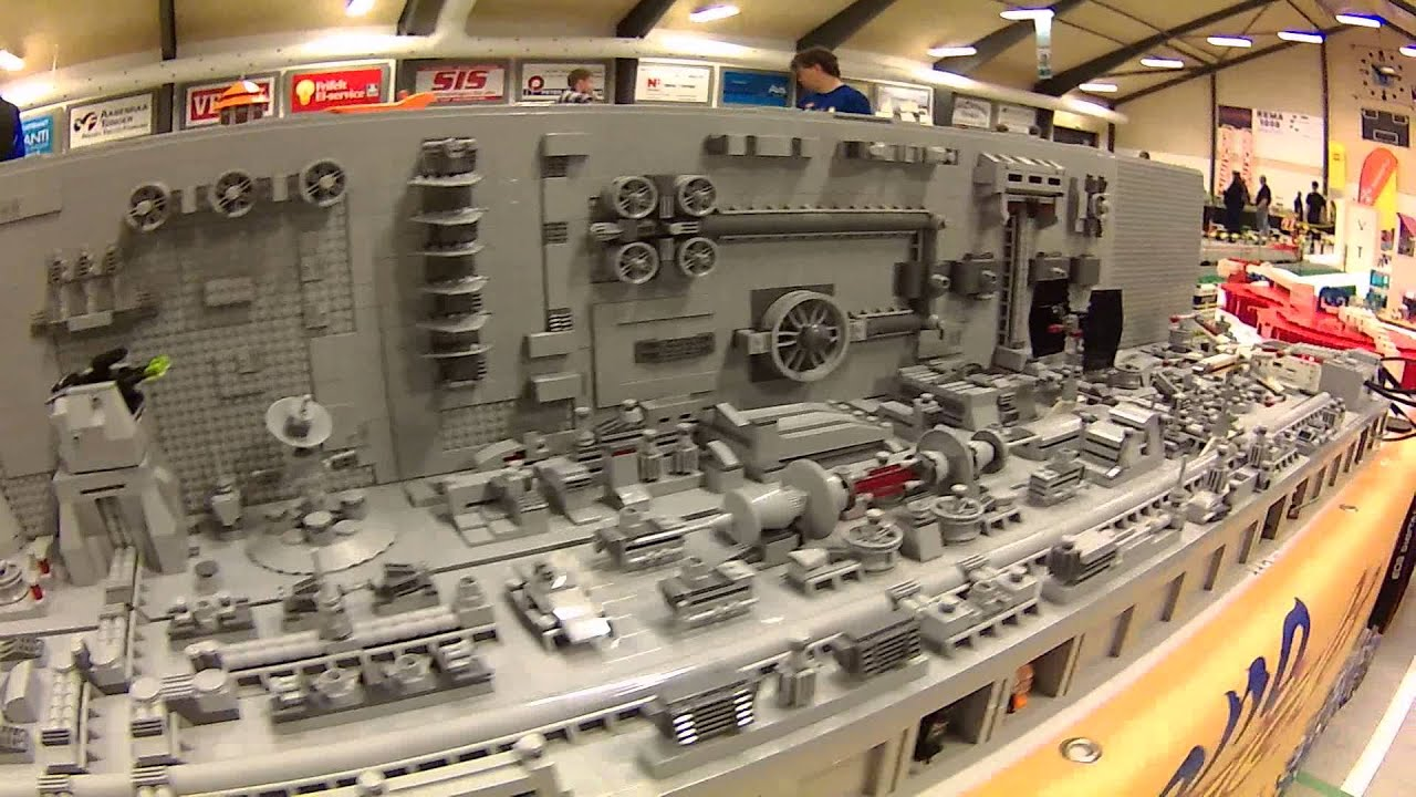 Star Wars Death Star Trench in Lego