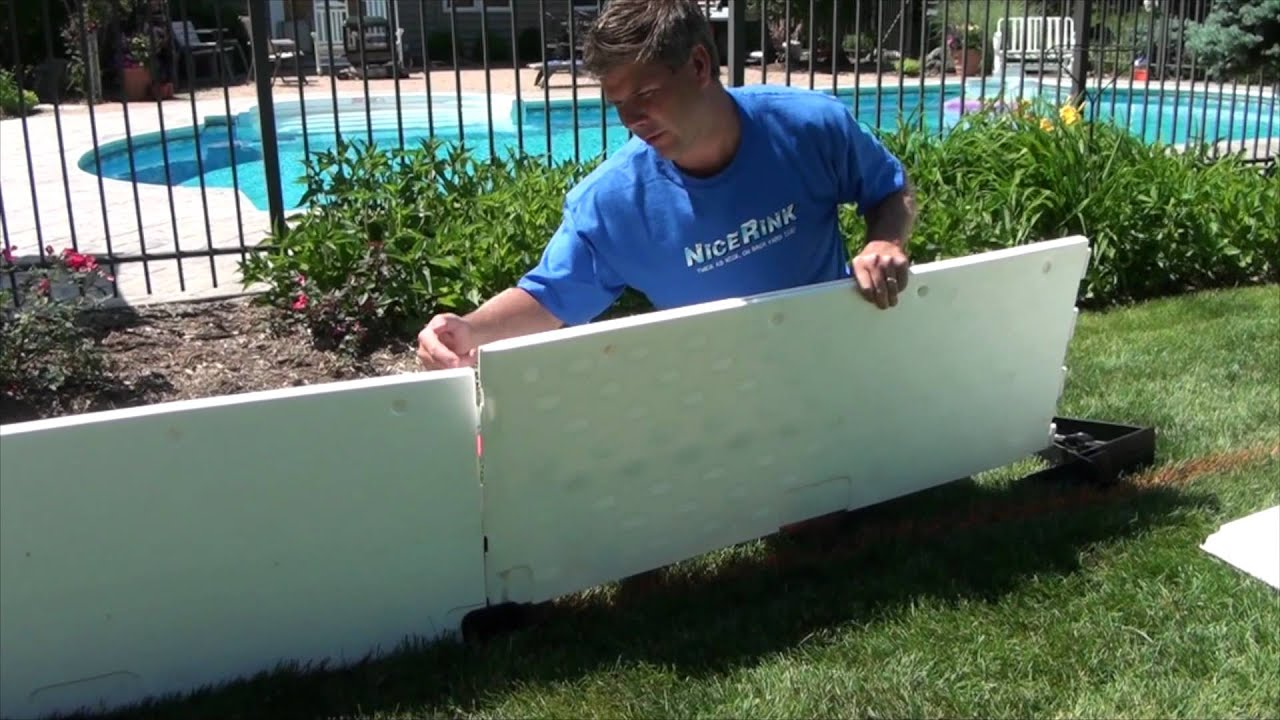 how to connect your plastic boards for your backyard ice rink