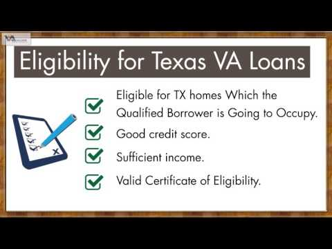Become eligible for VA loans in Texas