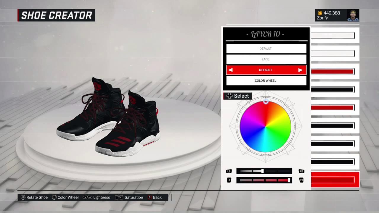 NBA 2k17 zapato creador Adidas D Rose 7