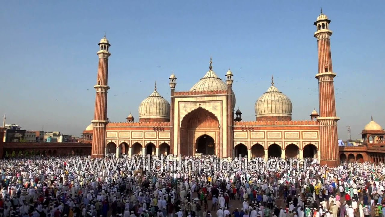 Muslims Offer Eid Ul Azha Or Bakrid Prayer At The Jama Masjid In Delhi