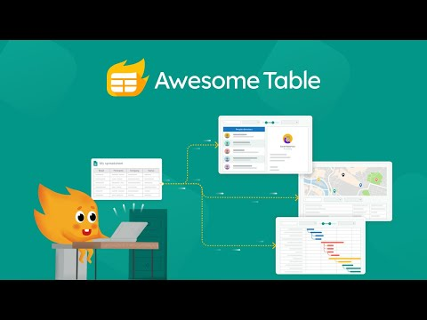 Awesome Table - Build Web Apps from Spreadsheets