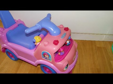 Fisher price Little People School Bus Ride on   Pink