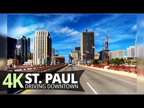 St. Paul 4K60fps - Driving Downtown - Minnesota, USA