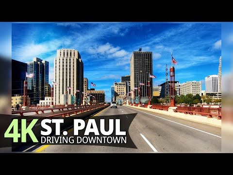 St. Paul 4K60fps - Driving Downtown - Minnesota, USA