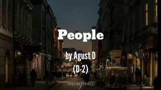 Download song Agust D- 'People' Lyrics (Han/Eng) by naomjoonie