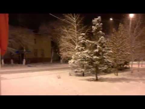 Рудный. Первый снег, в этом году, в моём городе.