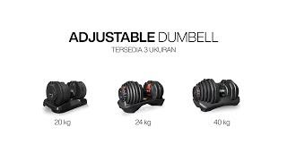Adjustable Dumbell Bowflex 24 Kgs OB Fit OB-128 Best Seller for Gym Barbel Fitness