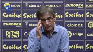 Fernando Vázquez tras Cádiz-Mallorca (29-08-16)