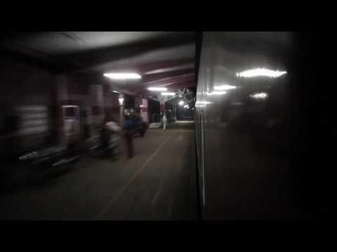 12685 Mangalore Super Fast express blasting through MAHE railway station!