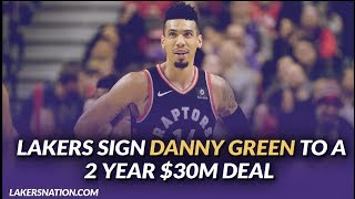 Lakers Free Agency: Danny Green Agrees To a Deal With Lakers On a Two-Year, $30 Million Deal