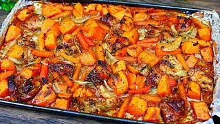 Sheet Pan Honey Garlic Chicken and Veggies - Easy Chicken and Veggies Recipe