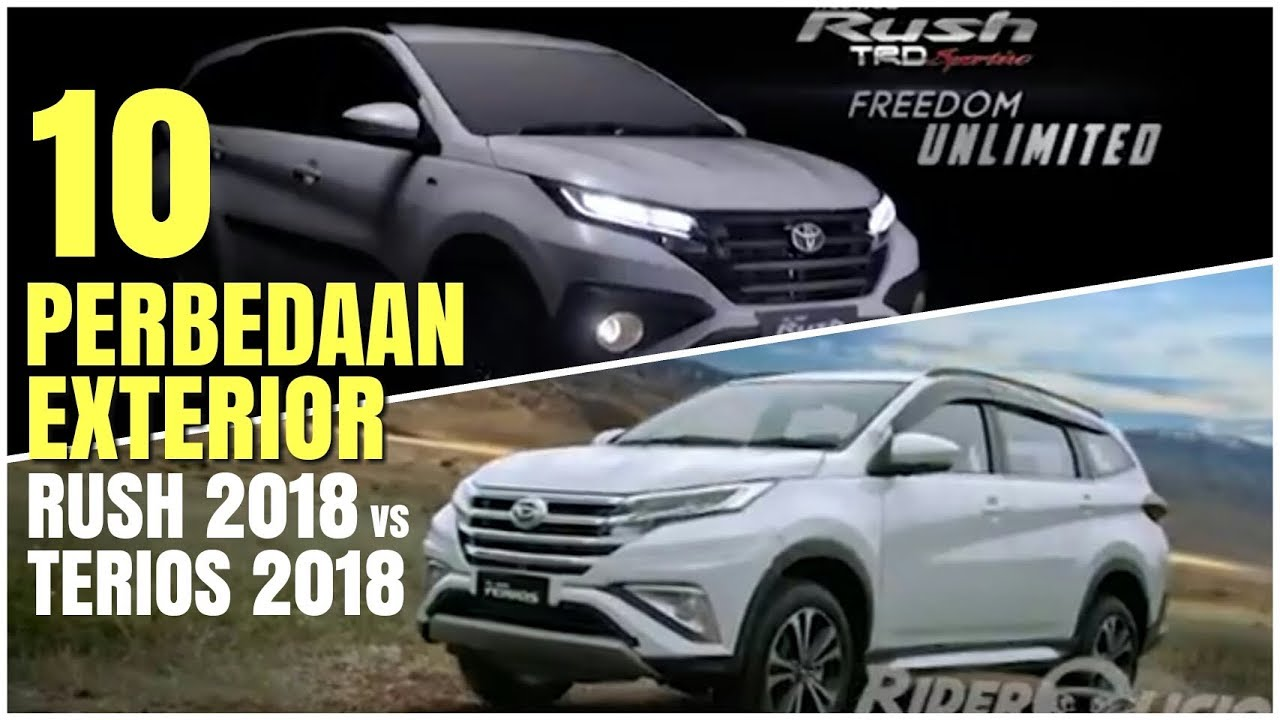 Terios 2018 Interior >> 10 perbedaan exterior rush 2018 vs terios 2018 | exterior comparison of rush & terios 2018 ...