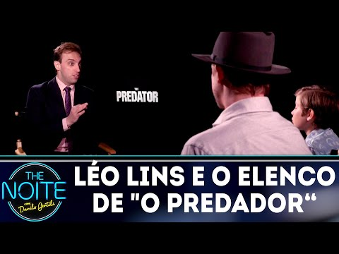 Léo Lins entrevista elenco do filme O Predador | The Noite (12/09/18)