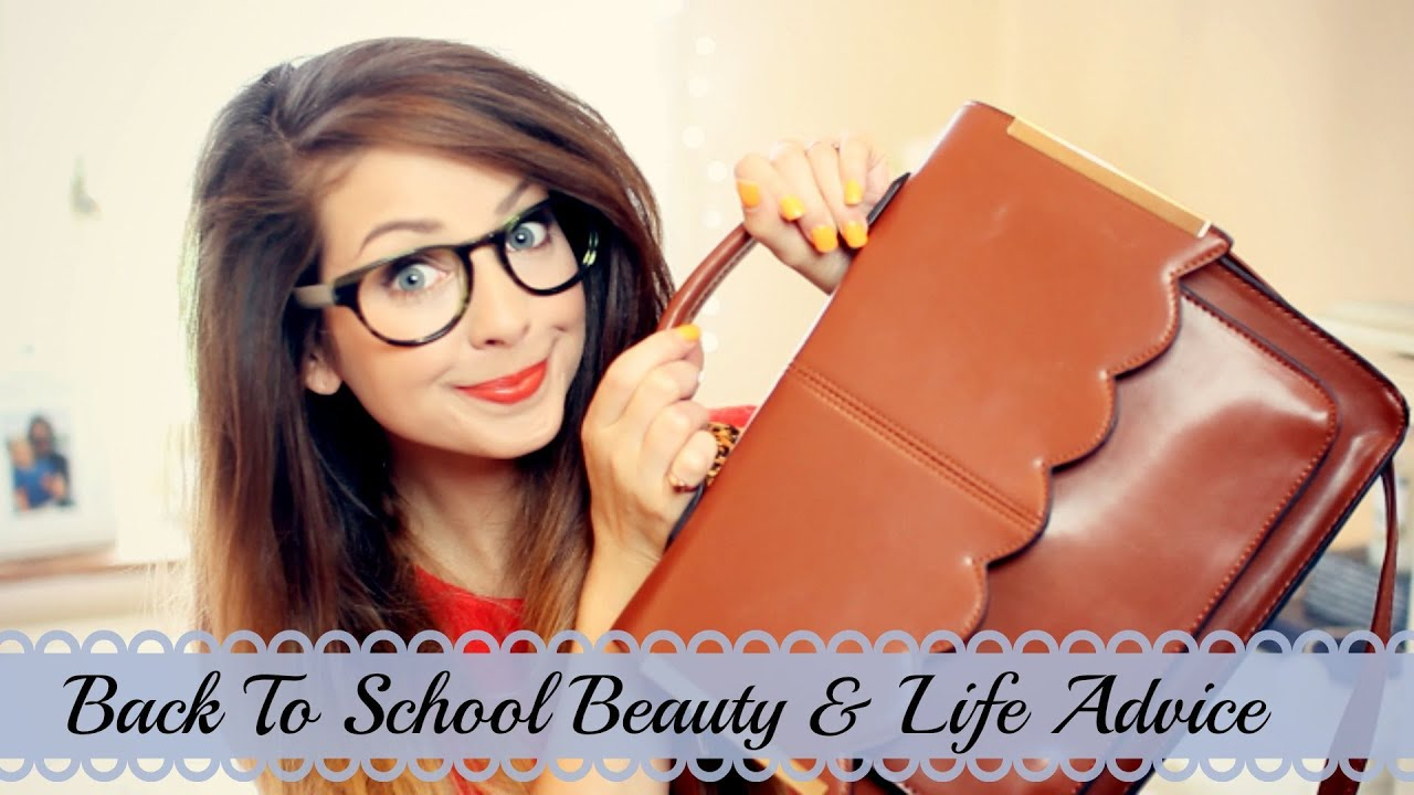 Zoella back to school video thumbnail