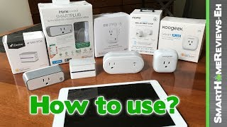 Introduction to Smart Plugs - How to use them in the living room, kitchen, bathroom and bedroom!