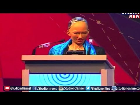 Humanoid Robot Sophia Special Attraction in World IT Congress Conference | Hyderabad | Studio N