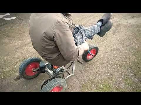 Велосипед с мотором от триммера. Обзор
