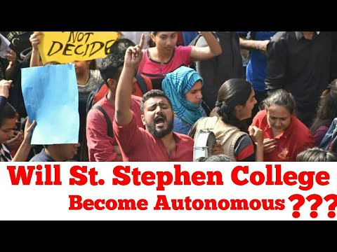 Will St. Stephen's college become autonomous?