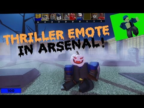 How To Do Emotes In Roblox Arsenal Thriller Emote In Arsenal Showcase Roblox Youtube