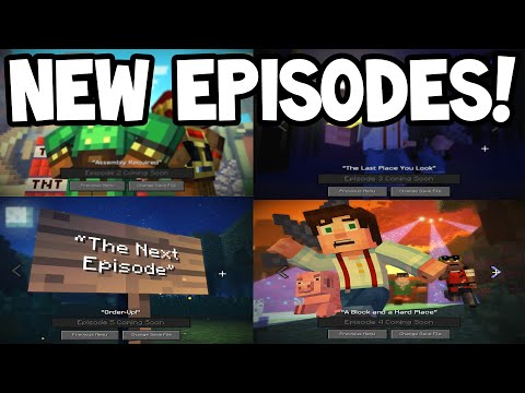 Minecraft Story Mode! - NEW Episodes 2-5 Revealed / Predictions!