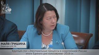 «Весомый вклад наблюдателей от общественных палат», - Секретарь ЦИК РФ Майя Гришина