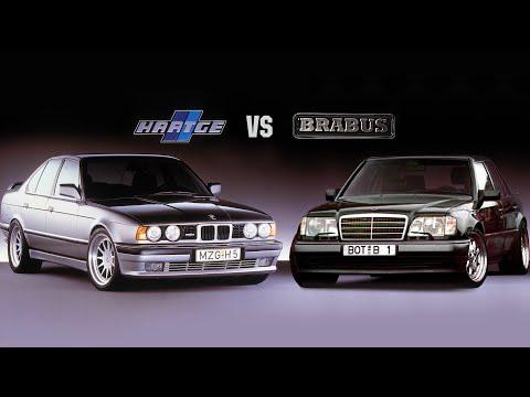 Легендарные монстры с V12 BMW E34 HARTGE H5 6.0 и MERCEDES W124 BRABUS 7.3 порвавшие время!
