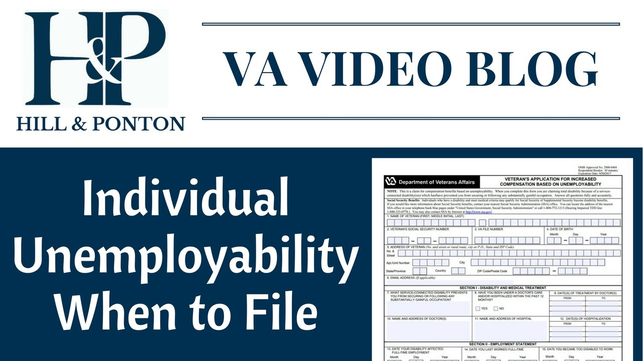 Individual Unemployability - When to File